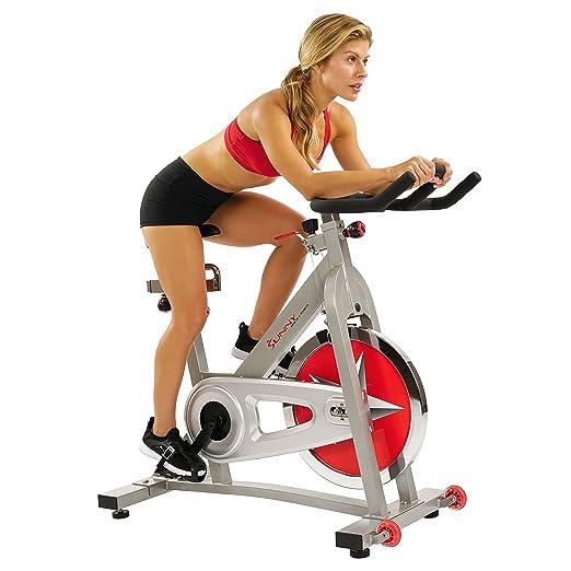 de4c7bb7f25 Amazon.com : Sunny Health & Fitness Pro Indoor Cycling Bike : Exercise Bikes  : Sports & Outdoors