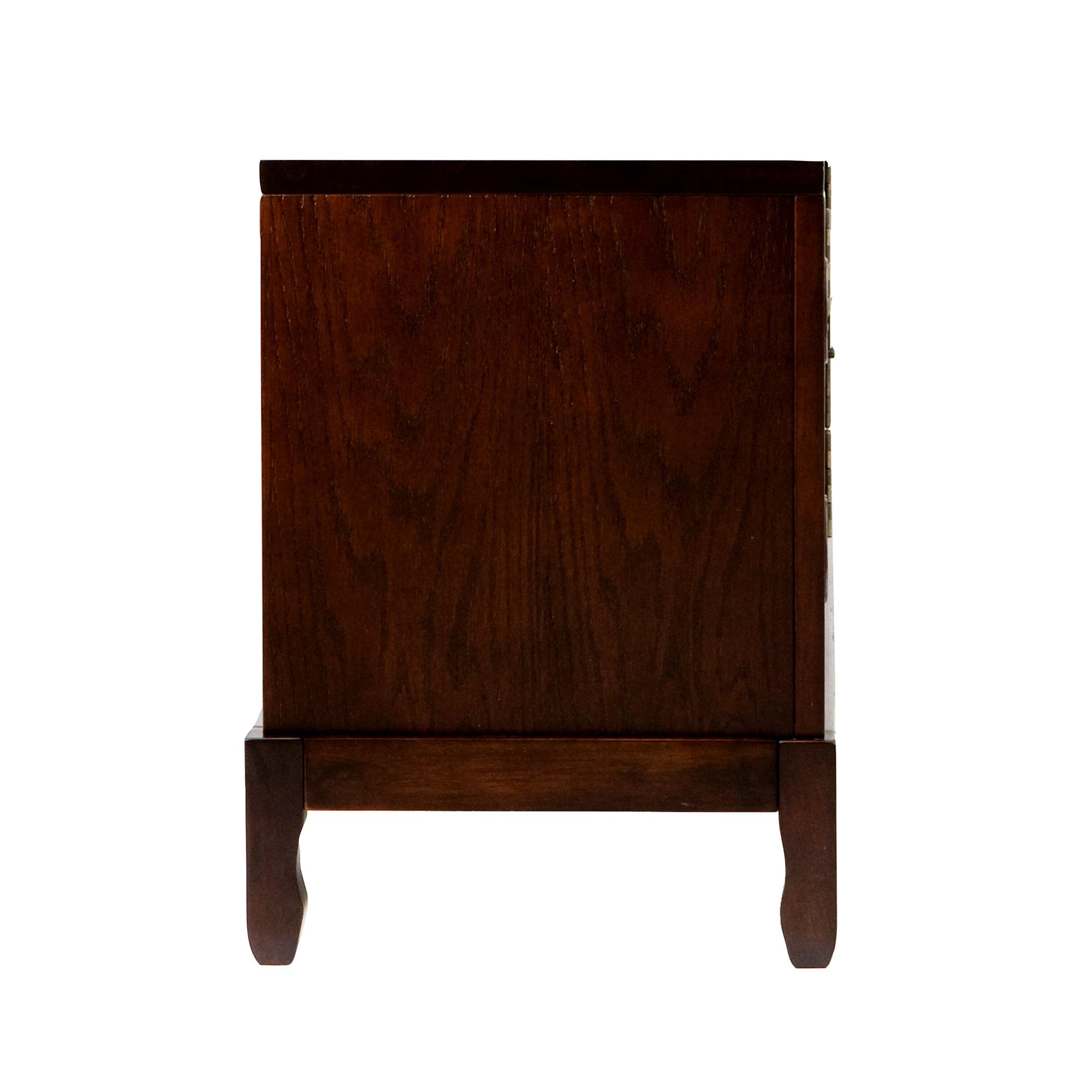 Side Cabinets w// Adjustable Shelves Dynasty Media Cabinet TV Stand w// Expresso Finish