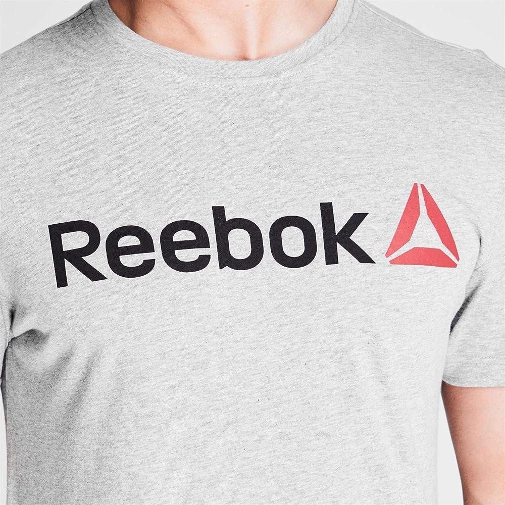 Reebok Hombre Camiseta Deportiva Manga Corta Delta Logo Gris XXL: Amazon.es: Ropa y accesorios
