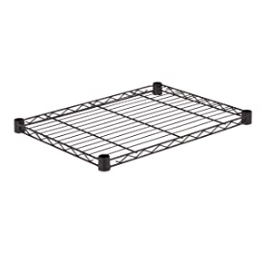Honey-Can-Do SHF350B1824 Steel Wire Shelf for Urban Shelving Units, 350lbs Capacity, Black, 18Lx24W