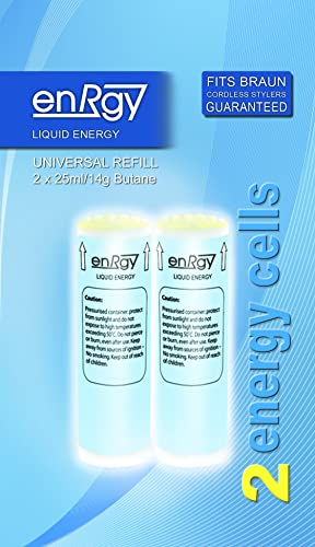 enRgy Gas Refills suitable for all Braun Cordless Stylers