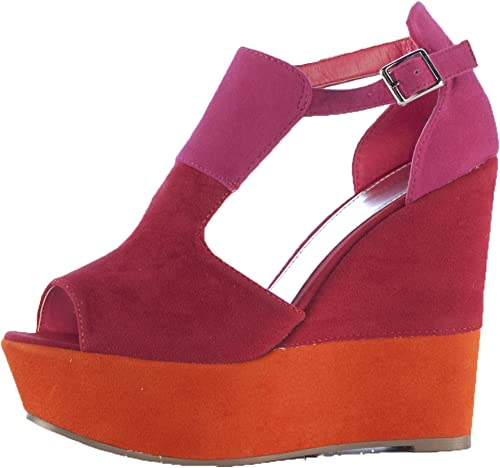 Ladies Orange Red Pink High Heels