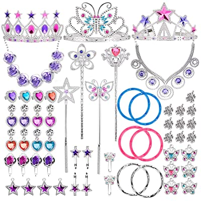 Liberty Imports Princess Jewelry Dress Up Accessories Toy Playset for Girls (50 pcs): Toys & Games