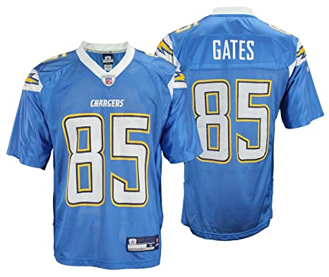 bd94ad14 San Diego Chargers Antonio Gates #85 NFL Mens Alternate Replica Jersey,  Light Blue