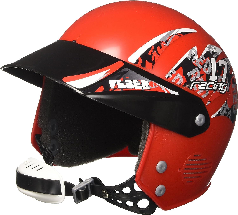 FEBER - Casco de Seguridad, Color Rojo (Famosa 800003101)
