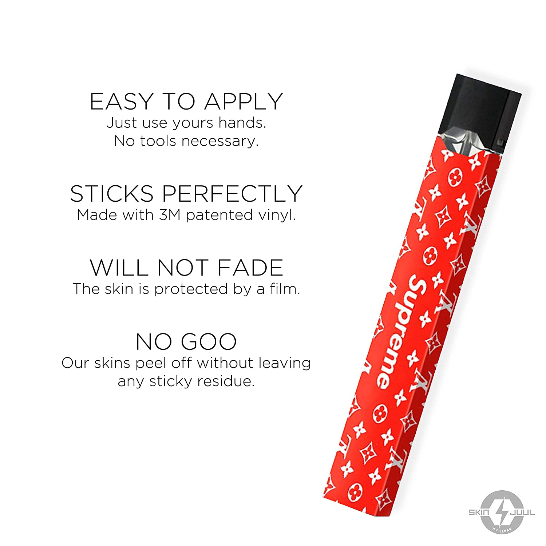 Juul Skin-Juul Wrap-Juul Sticker-2 Sticker Pack-Free Juul Charger Skin Included-Premium Sticker