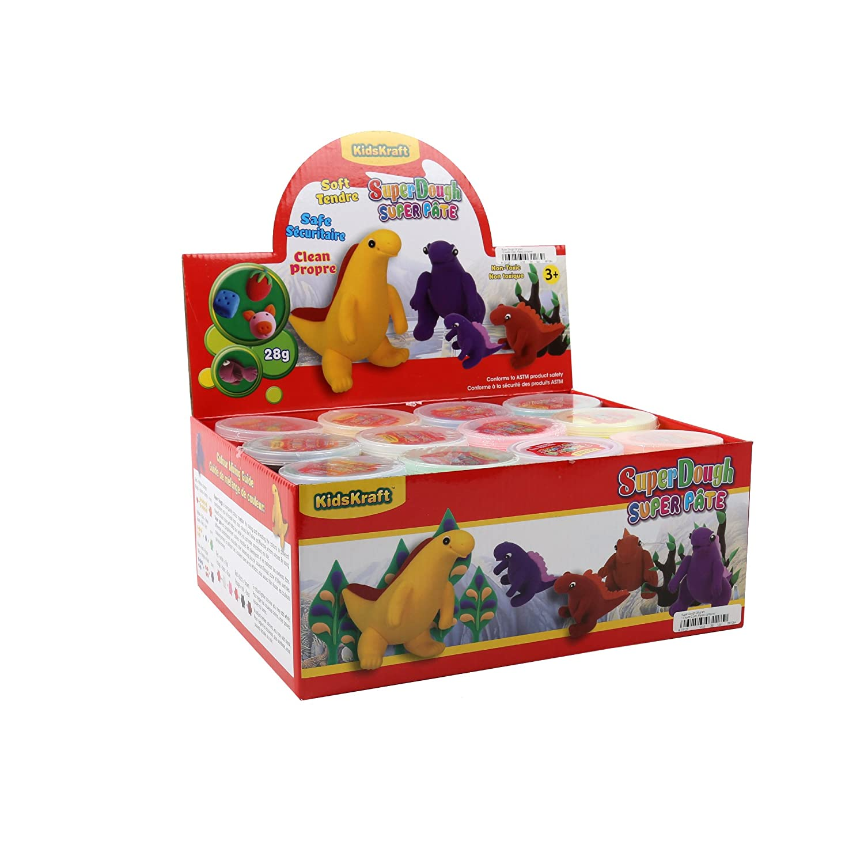 Time 4 Crafts, Super Dough, Multicolor, 36 Pieces CTG Brands 03128DC-36