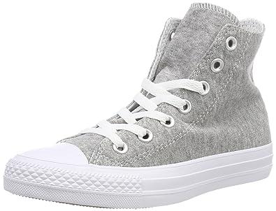 Converse Chuck Taylor CTAS Hi Cotton, Chaussures de Fitness Mixte Adulte, Gris (Gray/White/White 039), 45.5 EU