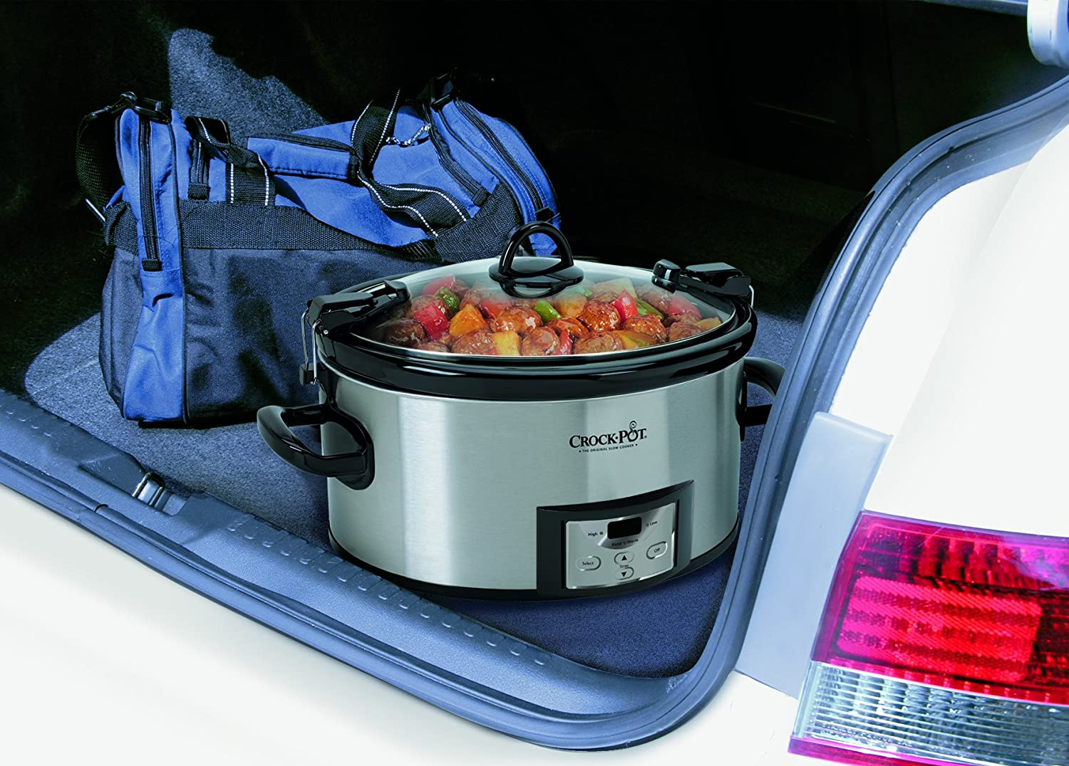 Amazon.com: Crock-Pot 6-Quart Programmable Cook & Carry Slow Cooker with Digital Timer, Stainless Steel, SCCPVL610-S: Kitchen & Dining