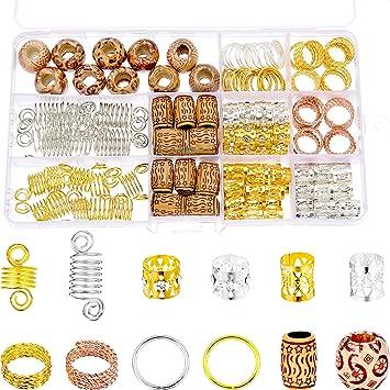 Amazon Com Tecunite 170 Pieces Aluminum Dreadlocks Beads Metal