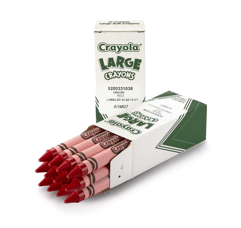 amazon com crayola large crayons red art tools 12 ct bulk