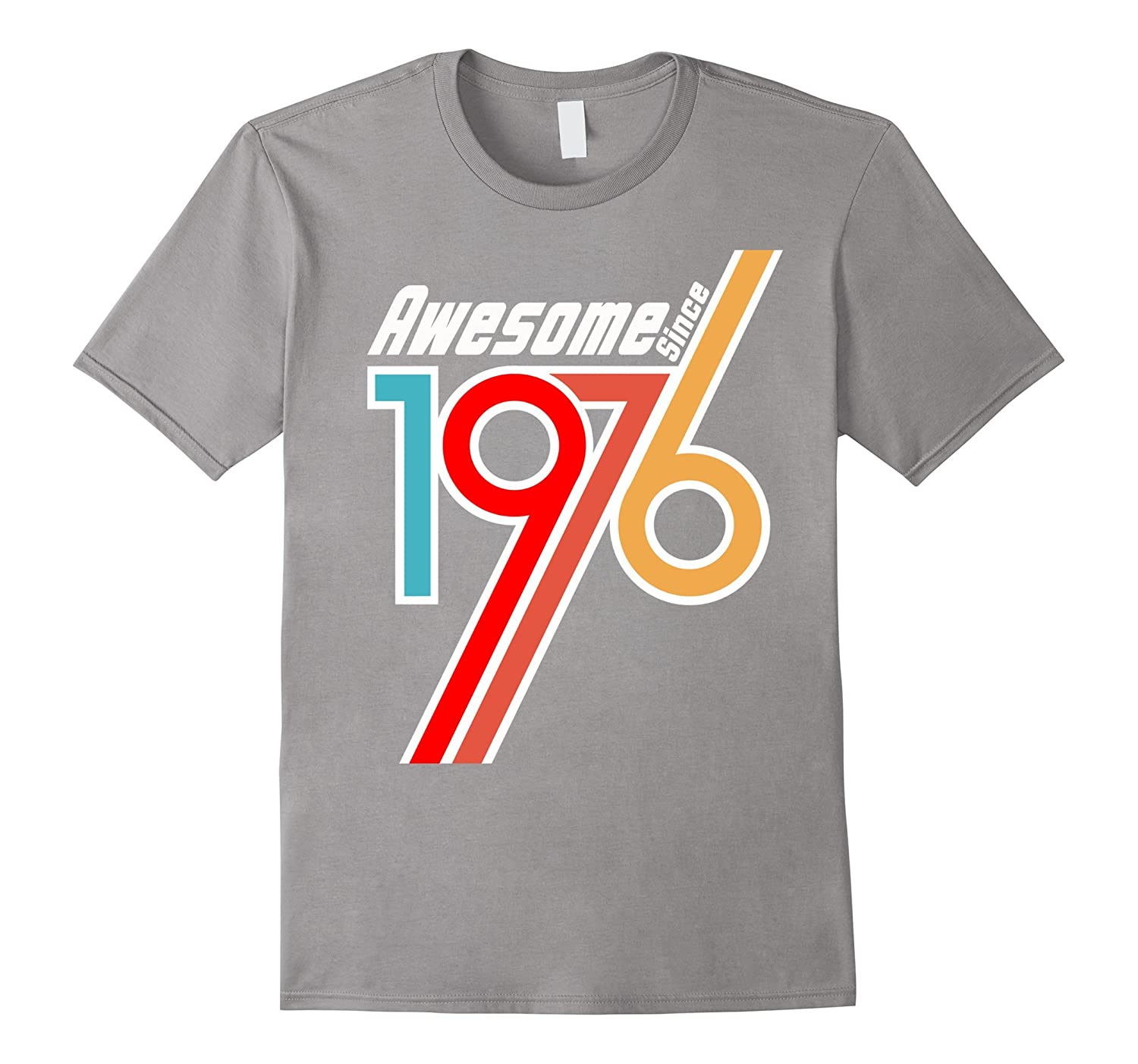 Awesome Since 1976, 40th Birthday Gift T Shirt Adult Tshirts-BN