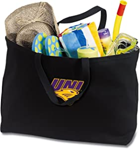 Broad Bay Jumbo UNI Panthers Tote Bag or Large Canvas University of Northern Iowa Shopping Bag