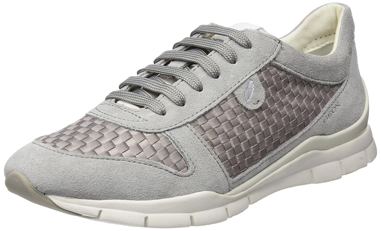 Geox D Sukie a, Zapatillas para Mujer 37 EU|Gris (Lt Grey)