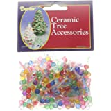 "Darice Ceramic Christmas Tree Bulb .25"" 250/Pkg-Mini Globe-Multi"