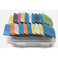 Trendz Handpicked Extra Smooth Tailoring Markers with 4 No.'s Fashion Designing Triangle Scales and Dust Free Sewing Chalks- Set of 15