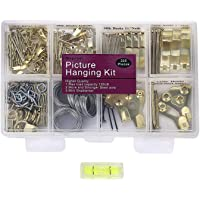 Picture Hangers, Quality Picture Hanging Kit, 225pcs Heavy Duty Frame Hooks Hardware with Nails, Hanging Wire, Screw…