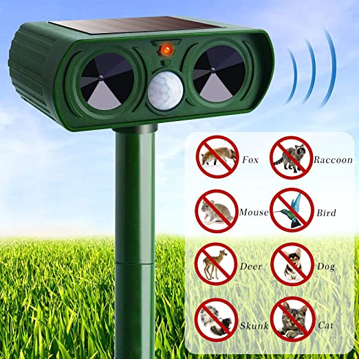 X1n Design Solar ultrasónico Animal Repelente LED Intermitente roedores para ahuyentar a los Gatos, Perros Mosquitos al Aire Libre Impermeable Edición ultrasónica: Amazon.es: Jardín