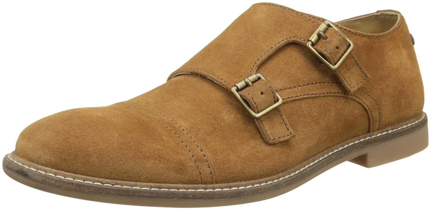 Base London Delamere, Mocassins Homme, Beige (Suede Cognac), 42 EU