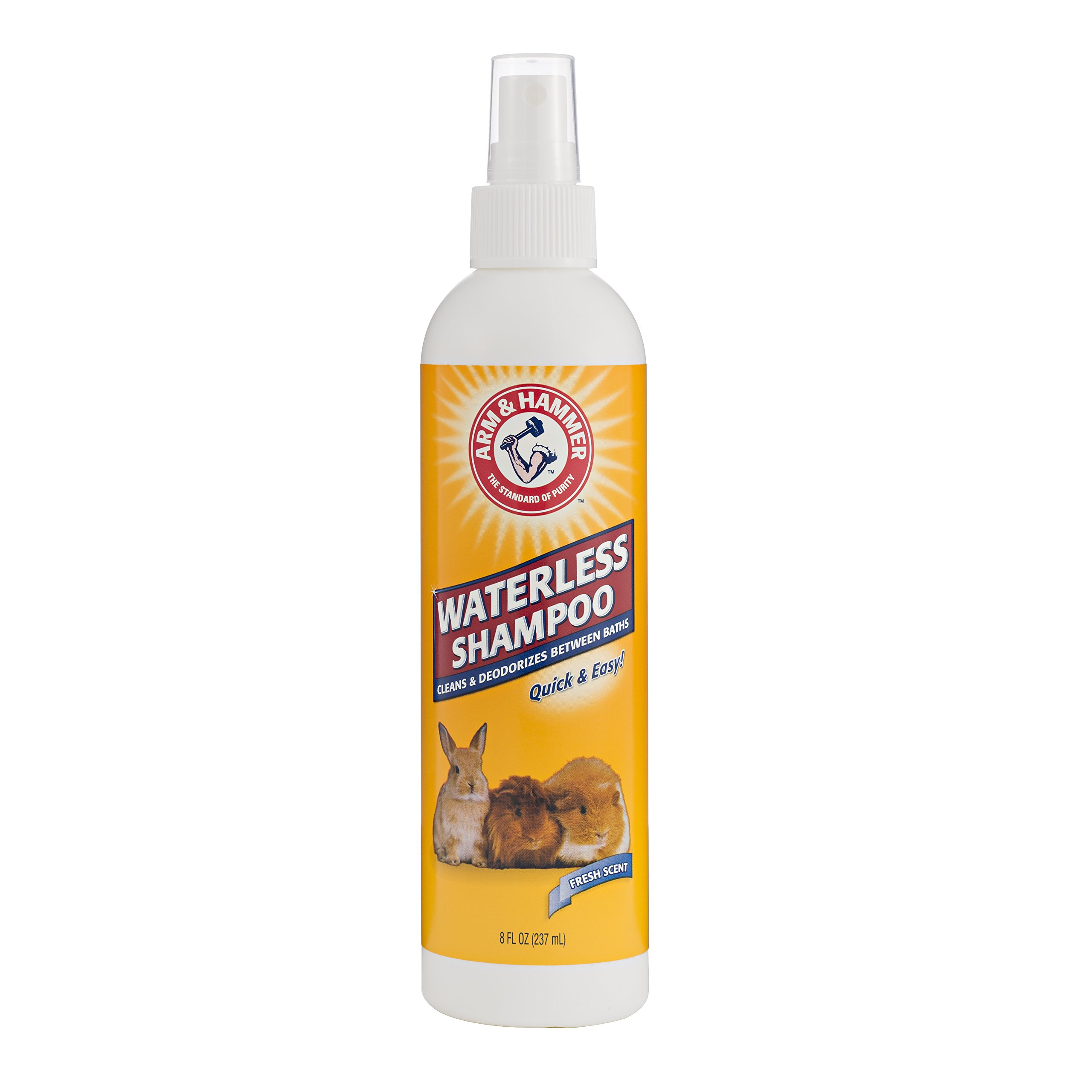 Arm & Hammer Waterless Shampoo for Small Animals | Safe for Use Around Guinea Pigs, Hamsters, Rabbits & All Small Animals, 8 ounces, Fresh Scent