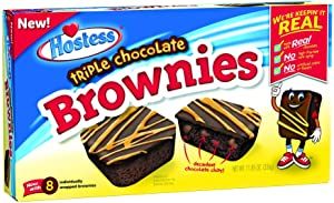 Hostess Triple Chocolate Brownies (11.85 Ounce, 8 Count Package)