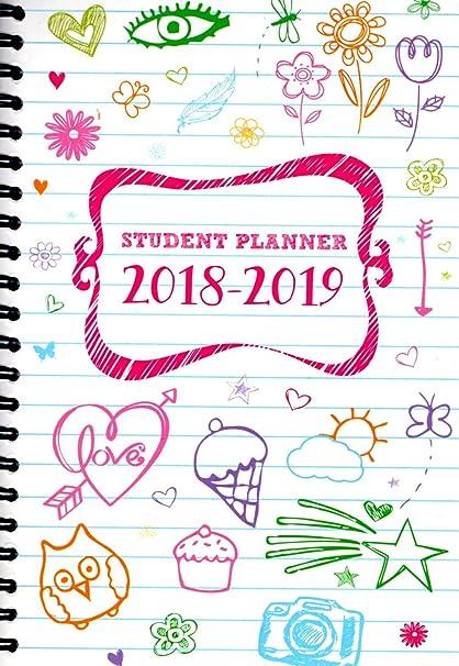 amazon com 2018 2019 student planner calendar school college