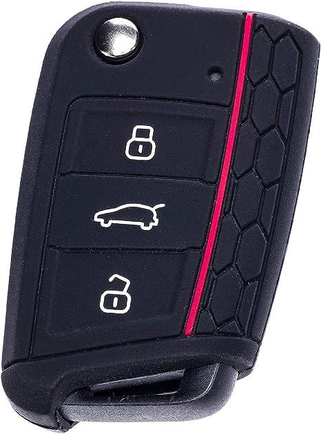 Caringa - Carcasa para llave de goma para Volkswagen Polo 6C, Golf ...