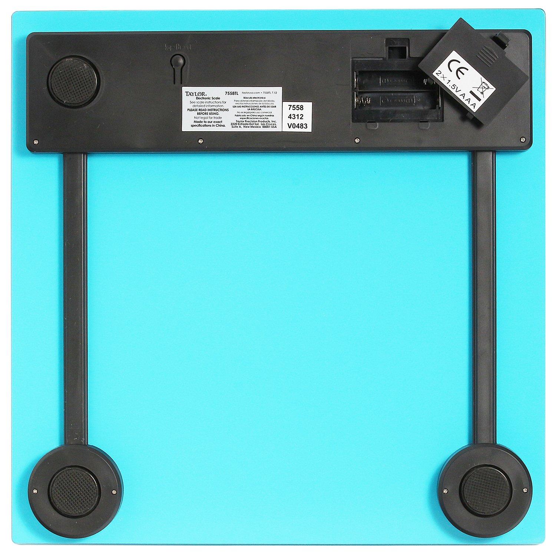 Amazon.com: Taylor Precision Products Glass Digital Bath Scale (Blue): Health & Personal Care