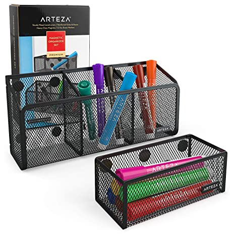 Amazon.com: Arteza Mesh Magnetic Basket Organizers Include ...