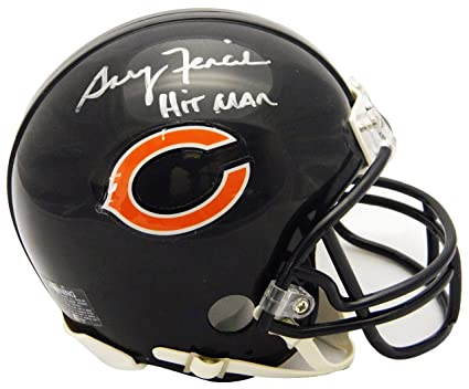 finest selection def73 3ef5d Amazon.com: Gary Fencik Signed Chicago Bears Riddell Mini ...