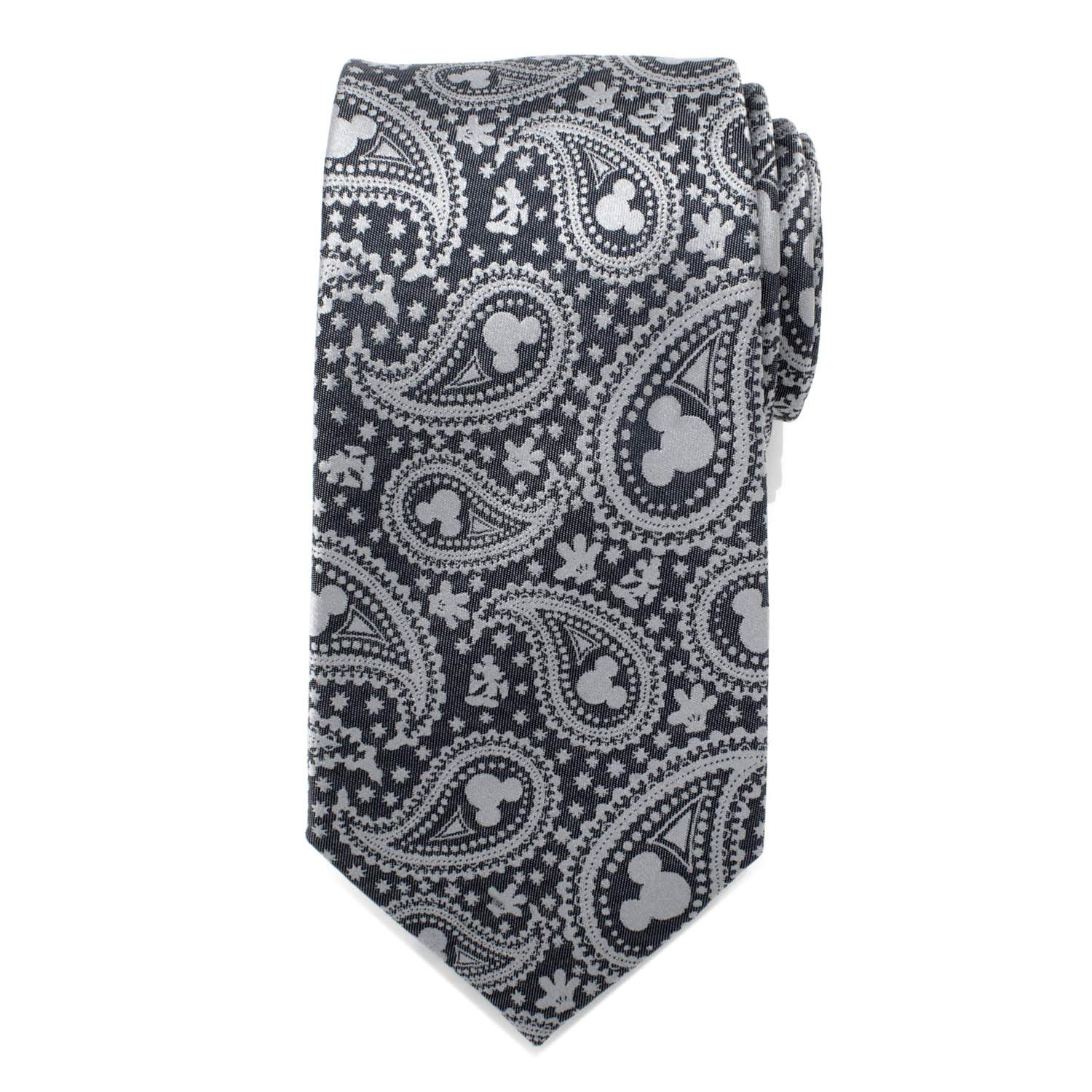 Officially Licensed Disney Mickey Mouse Gray Paisley Mens Tie