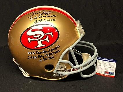 224ae620c Amazon.com  Jerry Rice Signed 49ers F S Helmet