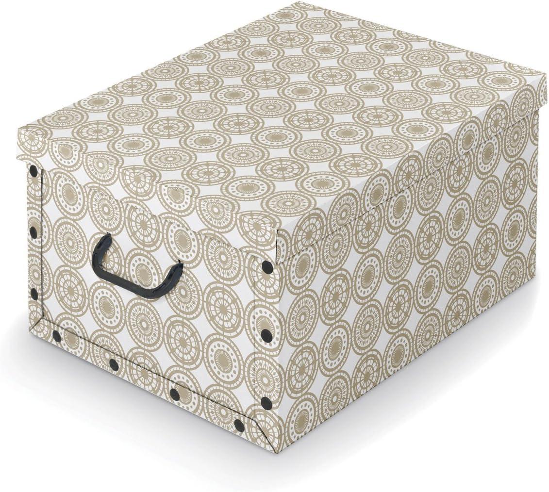 Domopak Living Scatola Guardaroba Bianco e Grigio 39x50x24