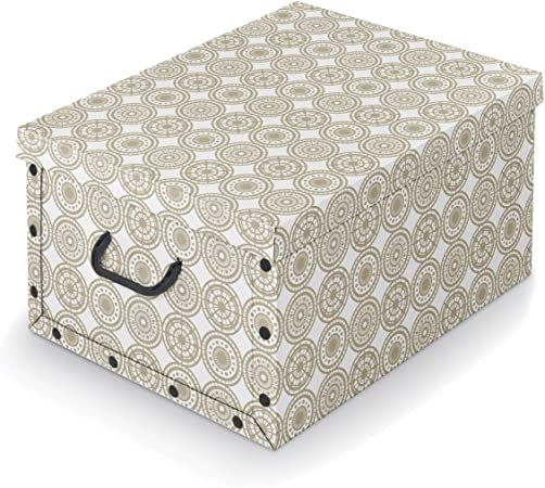 Domopak Living Scatola 50 x 39 x 24 cm Cartoncino Bianco//Beige