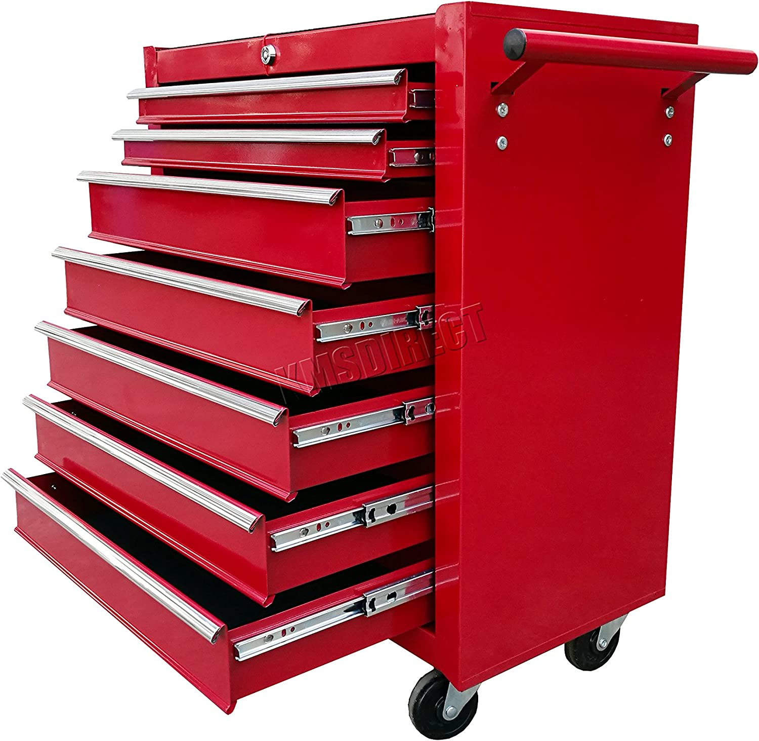 Portable Lockable Storage Chest Garage Tray With Lid Tool Box Organinzer 19 in