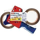 Tesa 57108-00000-01 Kit de 2 rouleaux pack + 1 dérouleur Transparence parfaite