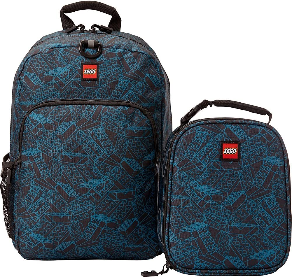 LEGO Blue Print Backpack & Lunch (Blue)