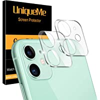 """[ 2 Pack ] UniqueMe Camera Lens Protector for iPhone 11 Tempered Glass [High Definition] Scratch Resistant 6.1"""""""