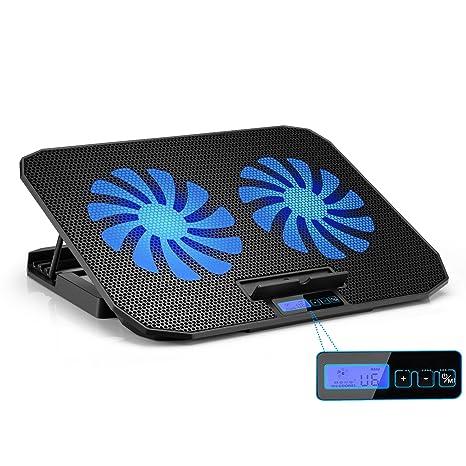TekHome 2-Fan Laptop Cooling Pad, Refrigerador De Juegos Para Notebooks de Hasta 15.6 Pulgadas Alienware, ...