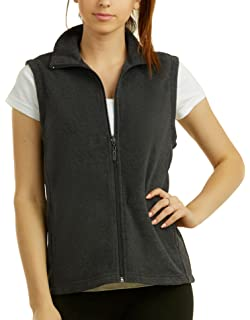 1d8306e206978 CAMEL CROWN Fleece Vest Men Women Full-Zip Sleeveless Jacket Plus ...