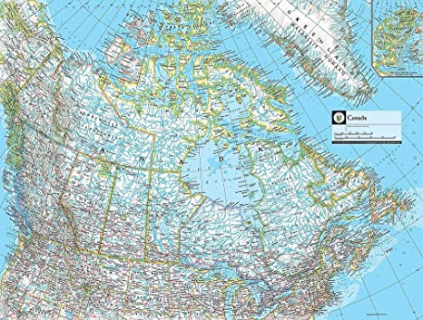 Map of Canada Wallpaper Wall Mural - Self-Adhesive - Multiple Sizes ...