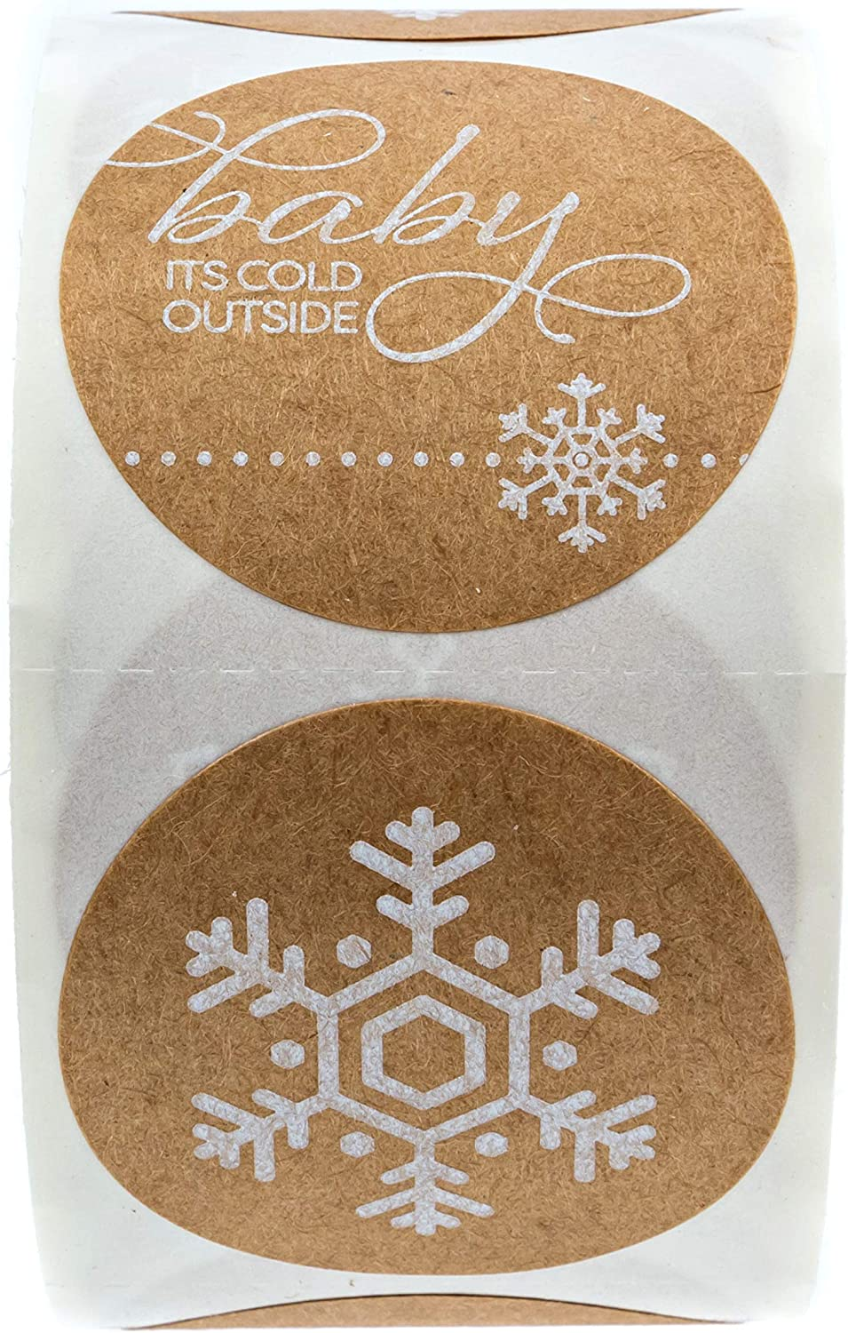 500 Holiday Stickers Multiple Designs Baby Its Cold Outside Christmas Stickers