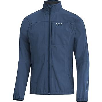 GORE Wear Chaqueta de running impermeable para hombre, XXL, Azul oscuro, 100057