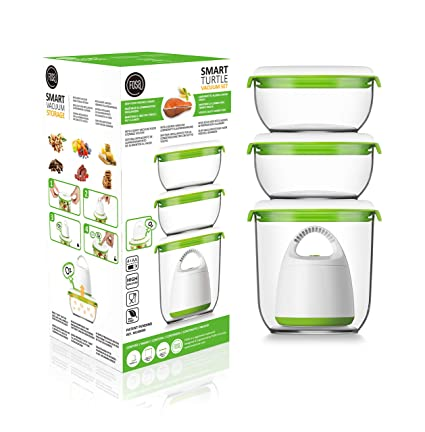 Charmant Amazon.com: FOSA Vacuum Seal Food Storage System Reusable Container Set  With Vacuum And 3 Reusable Containers: Kitchen U0026 Dining