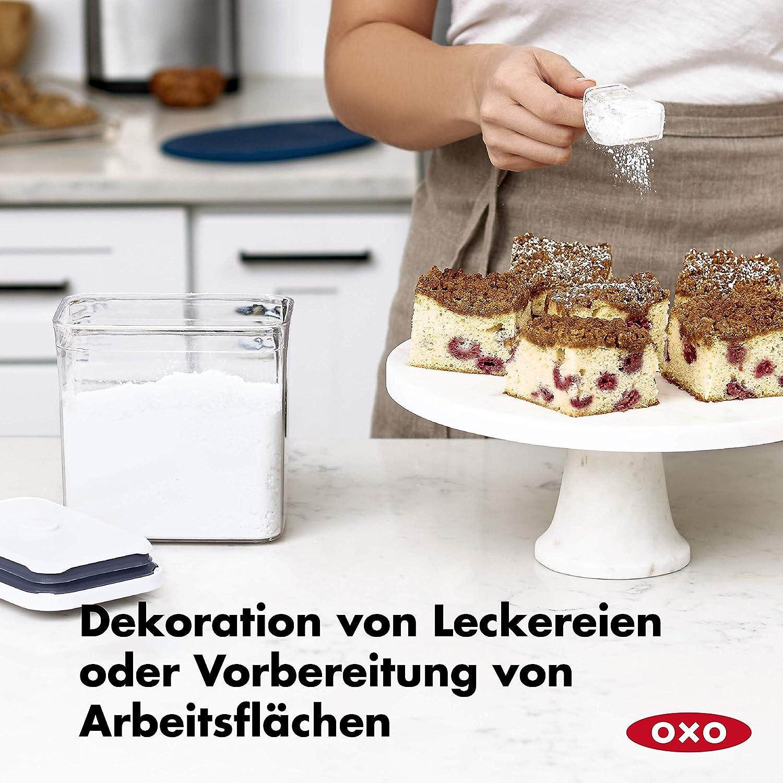 Gew/ürze und mehr stapelbare Aufbewahrung von Lebensmitteln 0,2 Liter f/ür Kr/äuter OXO Good Grips POP-Beh/älter luftdichte