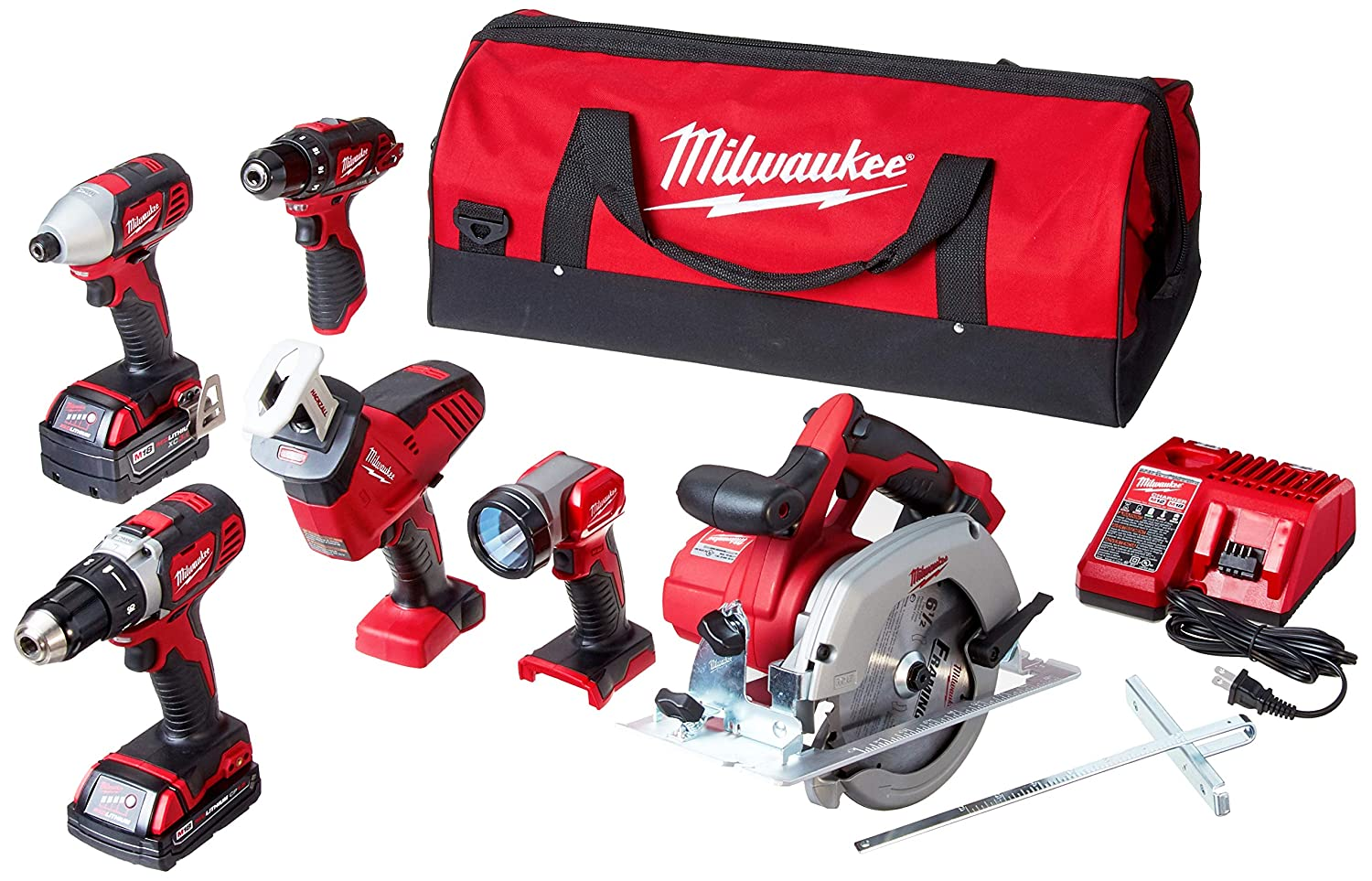 Milwaukee M18 18-Volt Lithium-Ion Cordless Combo Kit 5-Tool