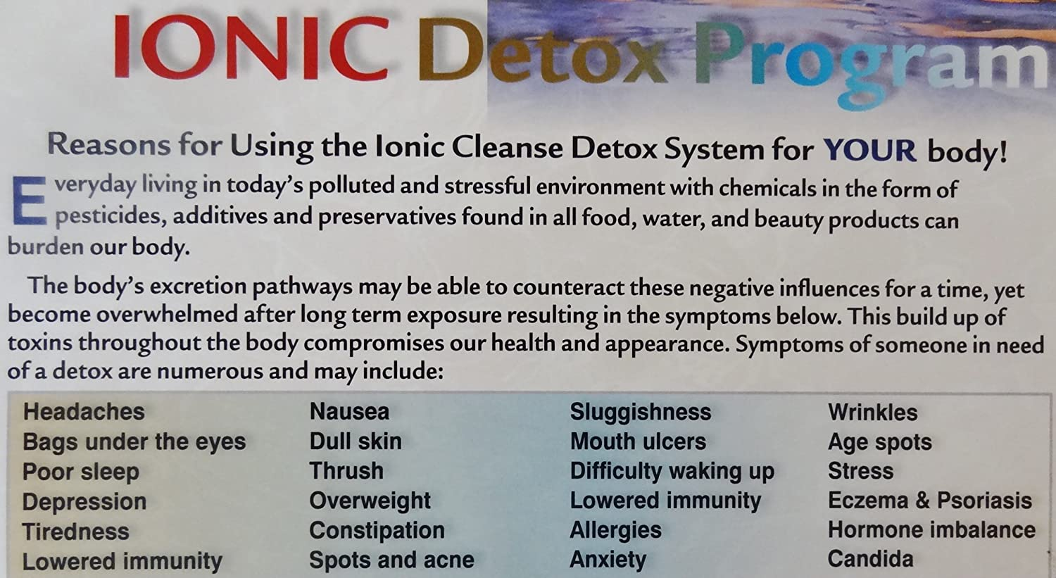 Amazon ion detox ionic foot bath spa chi cleanse promotional amazon ion detox ionic foot bath spa chi cleanse promotional poster increase your detox foot spa sessions and increase income nvjuhfo Images