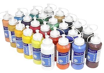 Meister 24 X Acrylfarbe Je 500 Ml Komplettes Mega Sparset Original