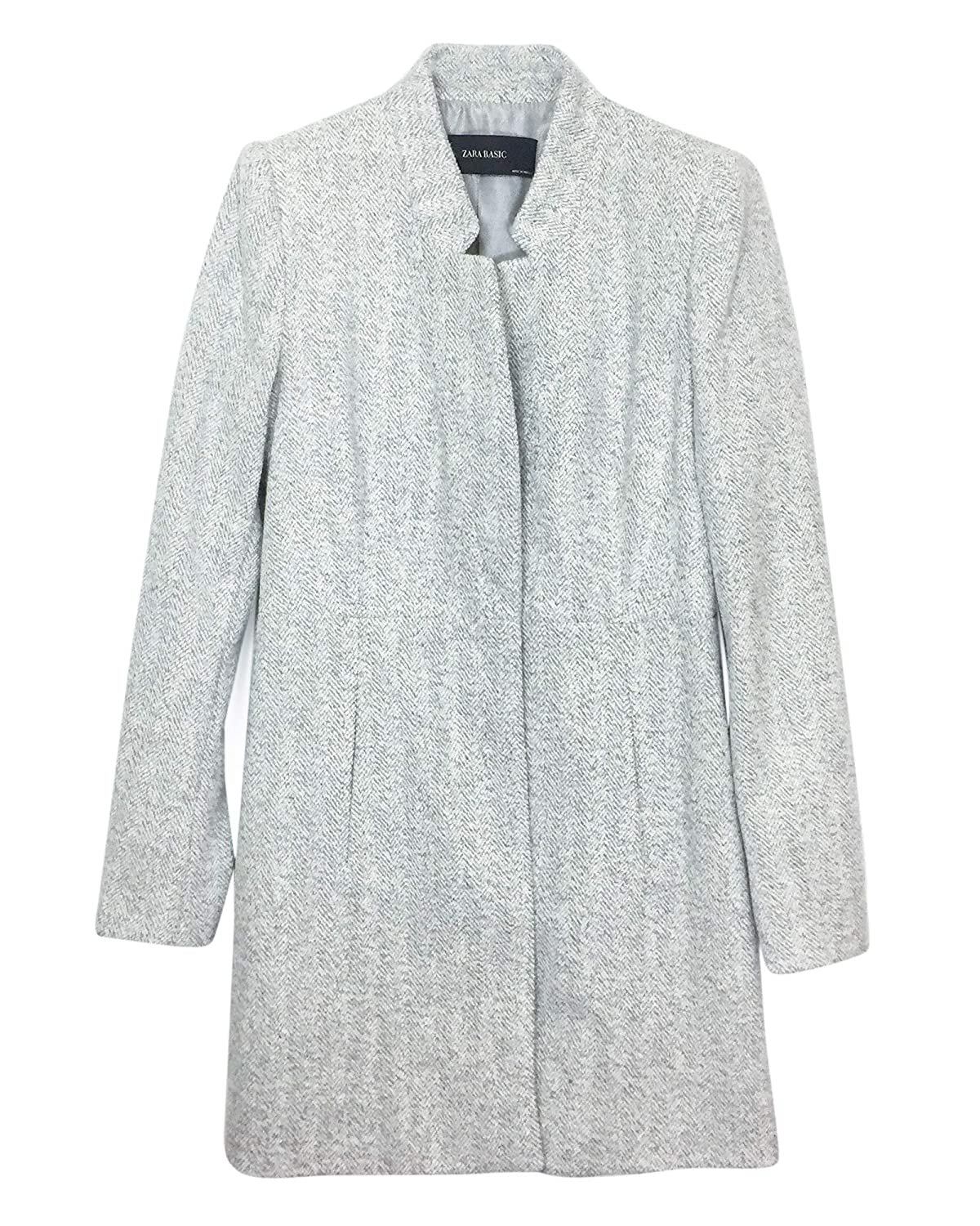 6c8157e0 Zara Women's Inverted Lapel Frock Coat 7988/876: Amazon.co.uk: Clothing