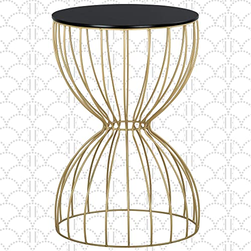Elle Decor Cami Round Metal Side Table